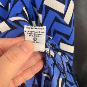 Diane Von Furstenberg Dresses - Diane Von Furstenberg Freya 100% Silk Dress 6 Blue